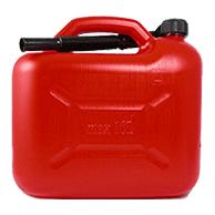 Benzinkanister Kunststoff 10l - Rot